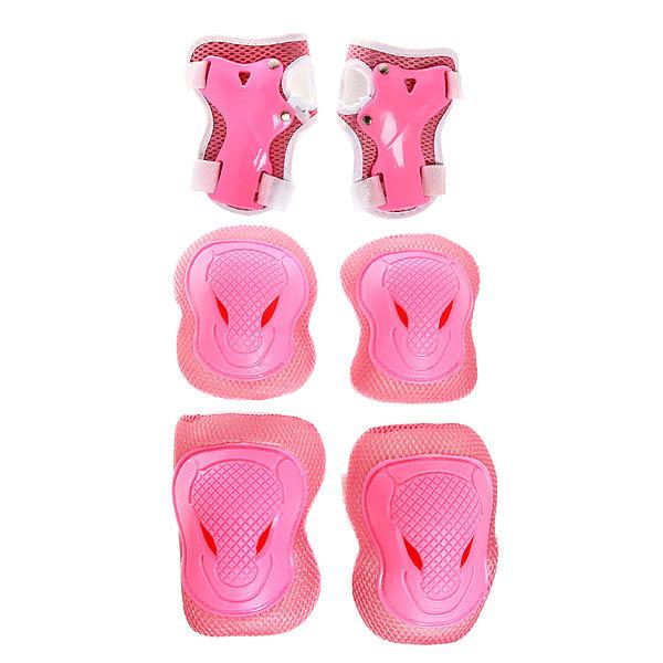 Защита комплект универсальный KL-228 (колени,локоть,кисть,7-12 лет) цв.розовый в сумке купить оптом и в розницу