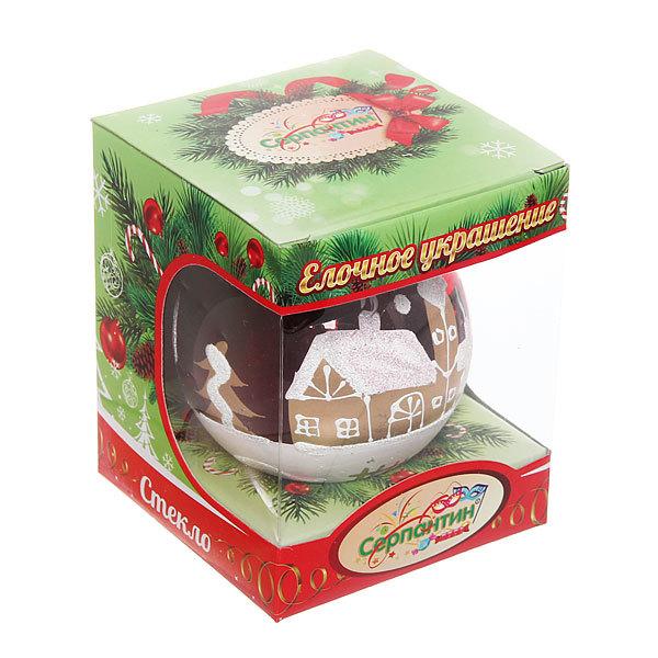 Новогодний шар ″Рождественская ночь.Рубин″ 8см купить оптом и в розницу
