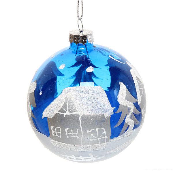 Новогодний шар ″Рождественская ночь.Топаз″ 8см купить оптом и в розницу