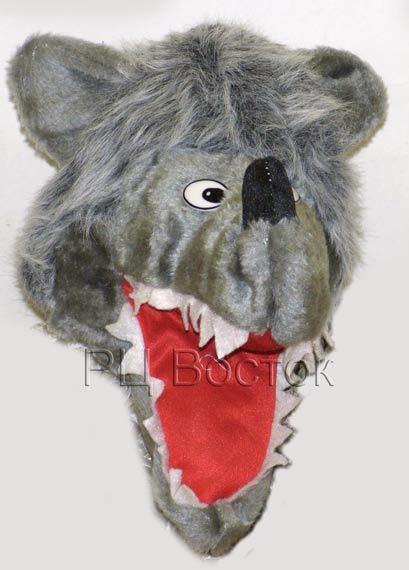 Маска-шапка карнавальная ″Волк″ артикул:182-922 купить оптом и в розницу