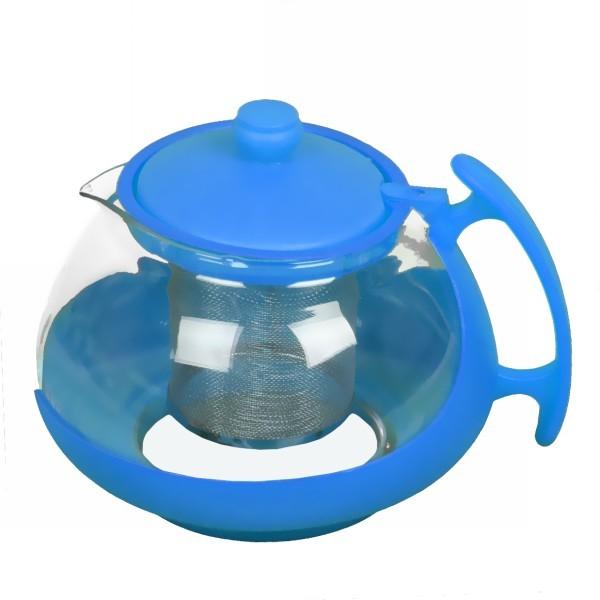 Чайник заварочный стеклянный 750 мл низкий купить оптом и в розницу