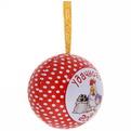 Ёлочный шар-шкатулка жестяной 7 см Отважные курицы купить оптом и в розницу