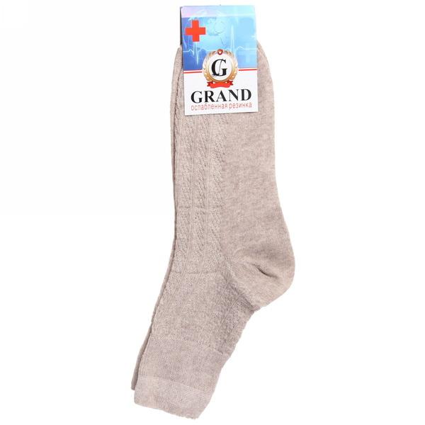 Носки мужские GRAND, ослабленная резинка, цвет бежевый р. 29 купить оптом и в розницу