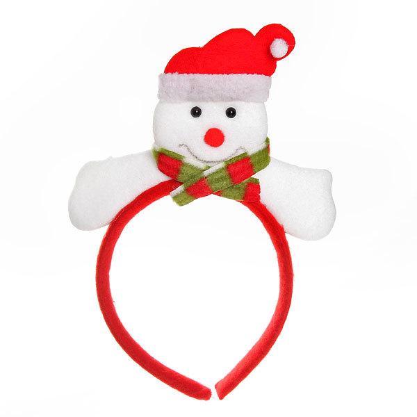 Ободок карнавальный ″Снеговичок в шарфике″22*17см купить оптом и в розницу