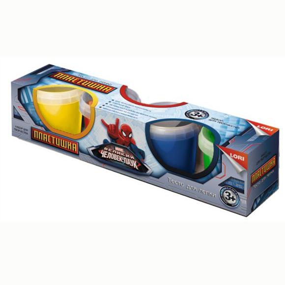 Набор ДТ Тесто для лепки Disney Человек Паук 4 цв. Тдд-002 Lori купить оптом и в розницу