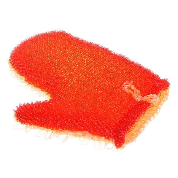 Мочалка-варежка скрабирующая ″Услада″ петельчатая с поролоном купить оптом и в розницу