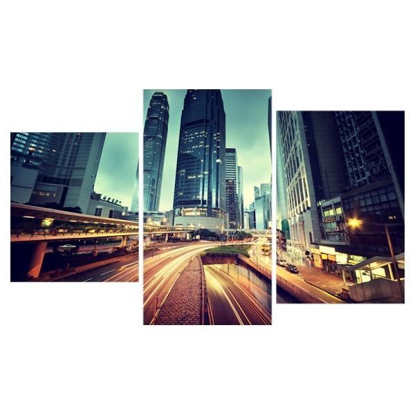 Картина модульная триптих 55*96 Город диз.5 94-01 купить оптом и в розницу