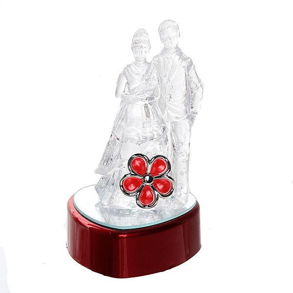 Фигурка из акрила ″Пара на сердце с цветком″ 12 см МН033АВН купить оптом и в розницу