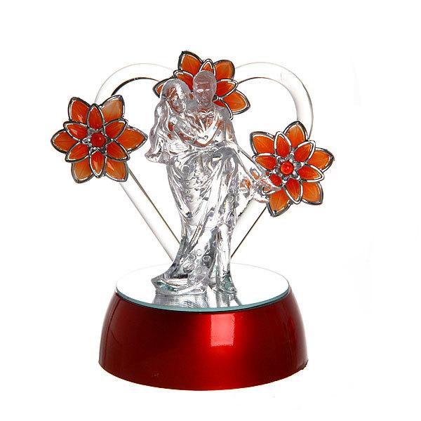 Фигурка из акрила ″Пара с цветами″ 12 см купить оптом и в розницу