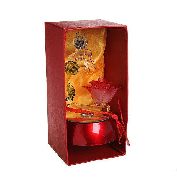 Фигурка из акрила ″Колибри с розой″ 14 см купить оптом и в розницу