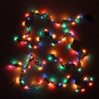 Гирлянда 4,5м, 100 ламп Мини, Мультицвет, 8 реж, черн.пров. купить оптом и в розницу