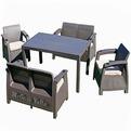 Комплект садовой мебели (2 кресла + 2 дивана + стол)  Yalta Fiesta Цвет венге купить оптом и в розницу