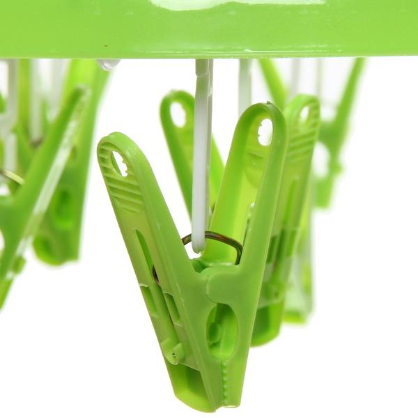 Сушилка для белья подвесная с прищепками 046 (17 прищепок) купить оптом и в розницу