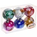 Новогодние шары ″Новогодний храм″ 7см (набор 6шт.) купить оптом и в розницу