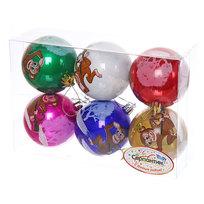 Новогодние шары ″Обезьянка″ 7см (набор 6шт.) купить оптом и в розницу