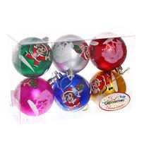 Новогодние шары ″Обезьянка в колпачке″ 7см (набор 6шт.) купить оптом и в розницу