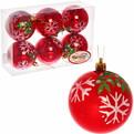Новогодние шары ″Рубин.Снежинка″ 8см (набор 6шт.) купить оптом и в розницу