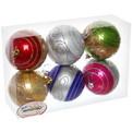 Новогодние шары ″Жемчужный ажур″ 8см (набор 6шт.) купить оптом и в розницу