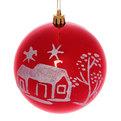 Новогодний шар ″Рождественская ночь″ 10см купить оптом и в розницу