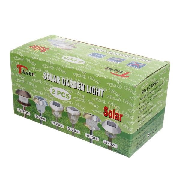 Фонарь ландшафтный 30см на солнечных элементах белого цвета SL-80120 (цена за 1шт) купить оптом и в розницу
