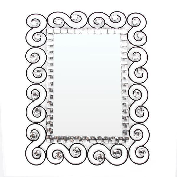 Зеркало настенное в кованой раме ″Узоры кристалл″ 60*45см JZ-1 купить оптом и в розницу