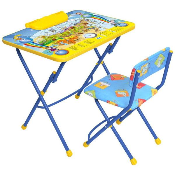 Набор детской мебели ″Никки.Познаю мир″ складной, с пеналом, мягкий стул КУ2/10 купить оптом и в розницу