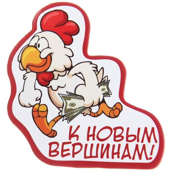 Магнит виниловый ″К новым вершинам!″, Отважные курицы купить оптом и в розницу
