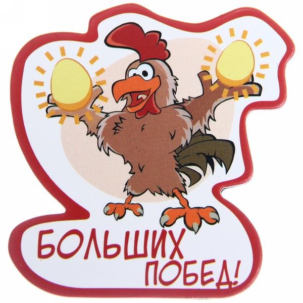 Магнит виниловый ″Больших побед!″, Отважные курицы купить оптом и в розницу