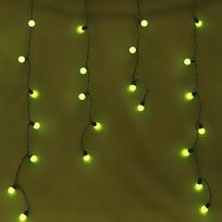Бахрома светодиодная 3 х 0,3/0,4/0,5м, 96 ламп LED, Желтый, 8 реж купить оптом и в розницу