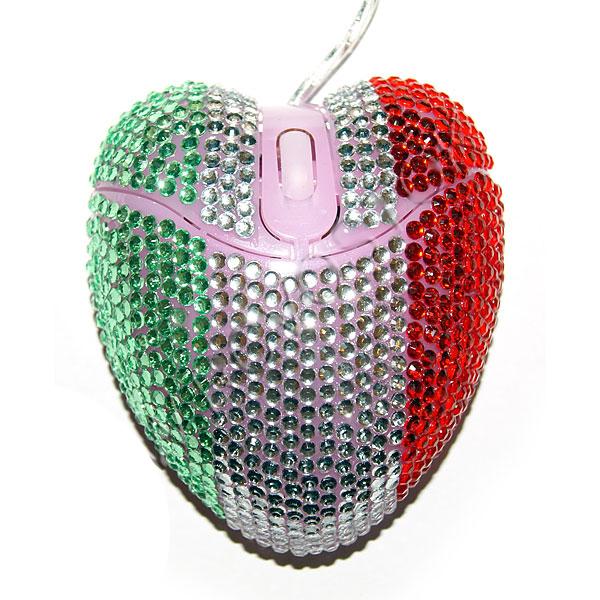 Мышь для компьютера Т-М-6 зеленая/белая/красная купить оптом и в розницу