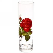 Ваза стеклянная ″Алая роза″ 265мм 43767/01 купить оптом и в розницу