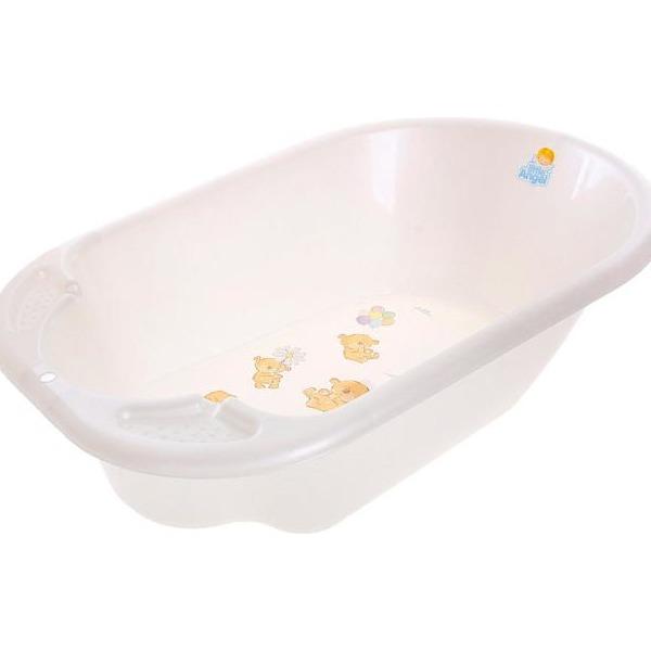 """Ванночка детская """"Дельфин"""" с дизайном Bears белый перламутровый купить оптом и в розницу"""
