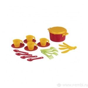 Набор детской посуды пл столовый 4 пр Хозяйка (Октябрьский)*16 купить оптом и в розницу