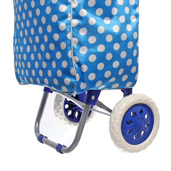 Тележка хозяйственная с сумкой (96*36*33см, колеса 16 см, грузоподъемность до 30 кг) горошек ST-885DB купить оптом и в розницу