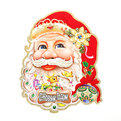 Плакат новогодний 70 см Дед Мороз с олененком купить оптом и в розницу