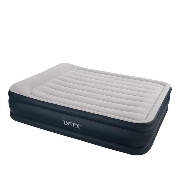 Кровать надувная Deluxe Pillow Rest Raised,152*203*48 см,встроенный насос 220В,Intex (67738) купить оптом и в розницу