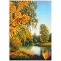 Набор ДТ Картина стразами Осенью АЖ-1167 купить оптом и в розницу