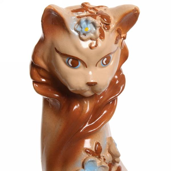 Статуэтка из гипса ″Кошка Цветы (бежевая) ,45см купить оптом и в розницу
