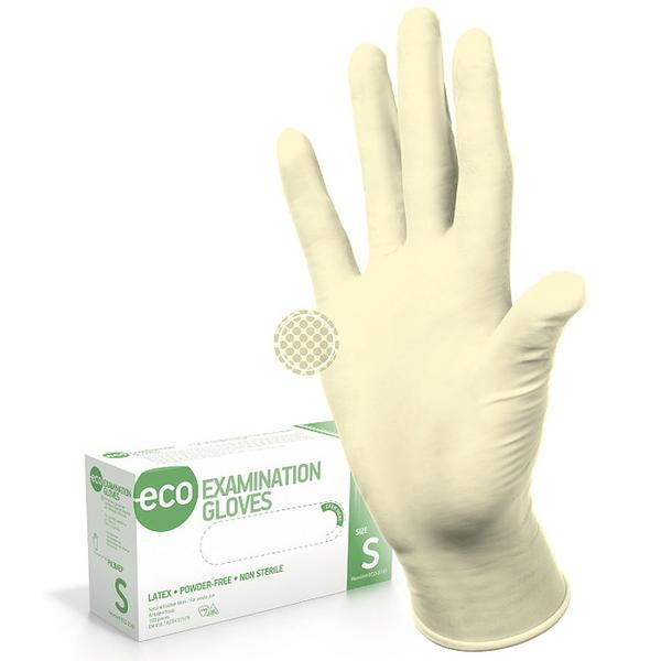 Перчатки ECO EG PF латексные нестерильные неопудреные 50 пар M купить оптом и в розницу