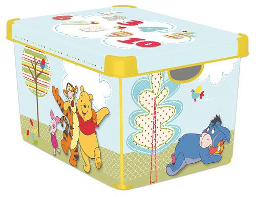 Коробка декоративная STOCKHOLM XL DISNEY Winnie the Pooh желтый./5  Curver (39,5х29,5х25)см купить оптом и в розницу