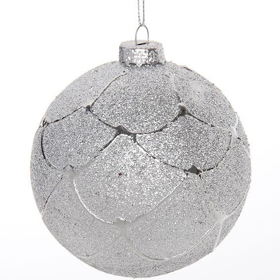 Новогодние шары ″Снежный город″ 8см (набор 2шт.) купить оптом и в розницу