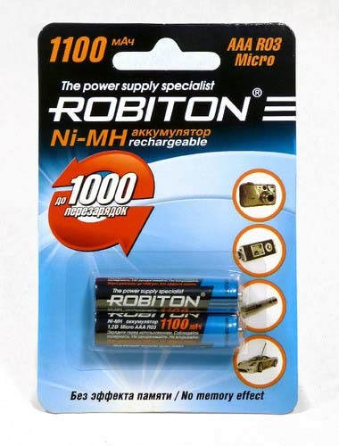 Аккумулятор Robiton R-03/AAA/1100 mAh BL*2 купить оптом и в розницу