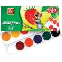 Краски акв.12цв.б/к к/у Мини Луч купить оптом и в розницу