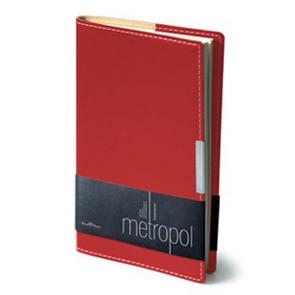 Еженедельник б/дат А6 BV Metropol красный купить оптом и в розницу