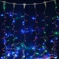 Занавес светодиодный ш 2 * в 6м, 864 лампы LED, ″Дождь″, RGB(красный, зеленый, синий), 8 реж, прозр.пров. купить оптом и в розницу