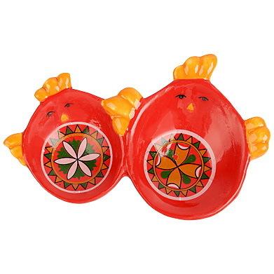 Подставка под 2 яйца ″Народные орнаменты ″, 12*8*2см купить оптом и в розницу