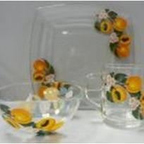 Набор посуды для завтрака ″Абрикосовая ветка″ D54077/1+D10341/1+D1335/1 купить оптом и в розницу