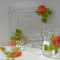 Набор посуды для завтрака ″Алая роза″ D54077/1+D10341/1+D1335/1 купить оптом и в розницу