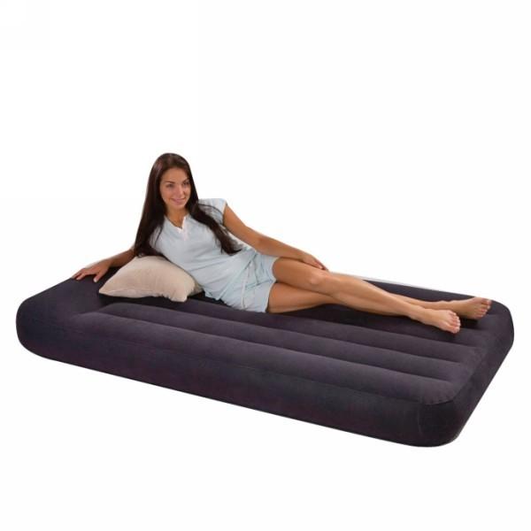Матрас надувной Pillow Rest Classic,191*99*23 см,встроенный электронасос 220В,Intex (66779) купить оптом и в розницу