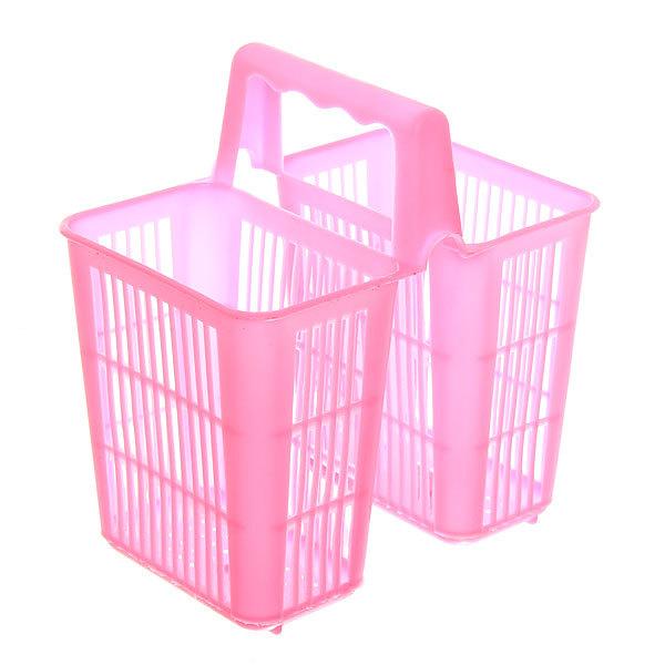 Подставка для столовых приборов 15*14*9см пластиковая, 2 секции купить оптом и в розницу